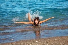 Spaß im Meer Stockfoto