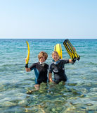 Spaß im Meer Lizenzfreie Stockbilder