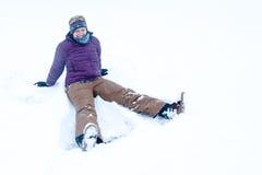 Spaß im Schnee Lizenzfreies Stockfoto