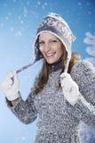 Spaß im Schnee stockbilder