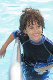 Spaß im Swimmingpool Stockfoto