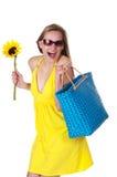 Spaß-liebevolle Sommer-Schönheit Stockfoto