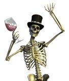 Spaß-liebevolles Party-Skelett Stockbild