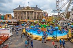 Spaß-Messe Groningen im Mai stockbilder