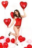 Spaß mit Ballons Lizenzfreies Stockfoto