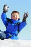 Spaß mit Schnee Lizenzfreie Stockfotos