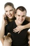 Spaß Phonecall Lizenzfreie Stockfotos