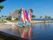Spaß Sailboating-Tätigkeit ClubMed Stockbild