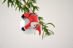 Spaß Santa Bauble Lizenzfreie Stockfotografie