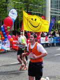 Spaß-Seitentriebe am London-Marathon 25. April 2010 Lizenzfreie Stockbilder