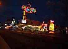 Spaß-Stadt-Motel-Las Vegas-Nacht lizenzfreie stockfotografie