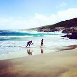 Spaß am Strand Stockbilder
