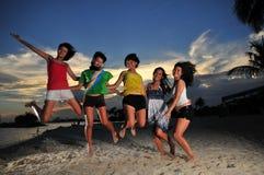 Spaß am Strand 94 Stockfoto