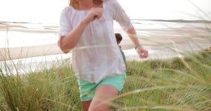 Spaß am Strand haben stock footage