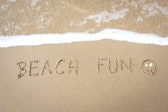 Spaß am Strand lizenzfreie stockfotografie