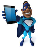 Schwarzer Superheld Lizenzfreies Stockfoto