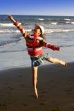 Spaß und Active durch den Strand. Stockfotos