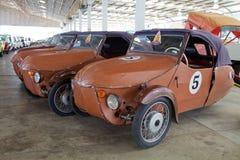 Spaß und lustiges Retro- Auto Stockfoto