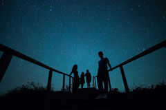 Spaß unter Sternen Lizenzfreies Stockbild