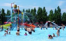 Spaß am Wasser-Park Stockfotos