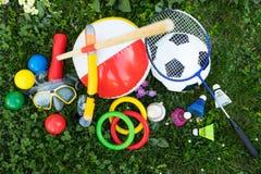 Spaßausrüstung im Freien, topview Lizenzfreie Stockfotografie