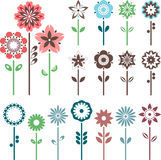 Spaßblumen eingestellt Stockfotografie
