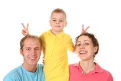 Spaßfamilie Lizenzfreie Stockfotografie