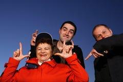 Spaßfamilie Lizenzfreies Stockfoto