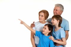 Spaßfamilie hatte eine gute Zeit Lizenzfreies Stockfoto