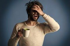 Spaßgesichter Kälte und Grippe, einzeln stockfoto