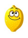 Spaßkarikatur-Zitronenfrucht Lizenzfreies Stockfoto