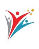 Spaßleute gesunder Leben-Logovektor Lizenzfreies Stockfoto