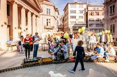 Spaßmesse - Spaßpark in der alten Stadt Zürich, die Schweiz stockfoto