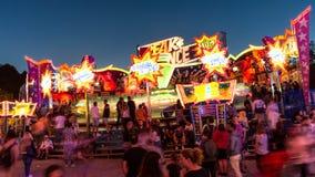 Spaßmesse-Zeitspanne stock video footage