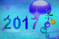 Spaßnachtgeschenk des neuen Jahres 2017 Lizenzfreie Stockfotos
