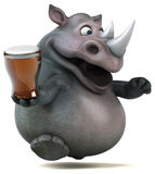 Spaßnashorn - Illustration 3D Stockfoto