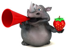 Spaßnashorn - Illustration 3D Lizenzfreies Stockfoto