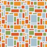 Spaßsommermuster von geometrischen Gegenständen Lizenzfreies Stockfoto