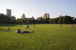 Spaßtätigkeiten im Central Park stockbild