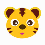 Spaßzoo des netten Tigers Lizenzfreies Stockfoto