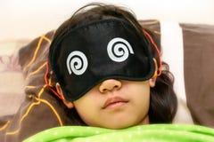 Spać z oko łatą i para Uszate prymki fotografia royalty free