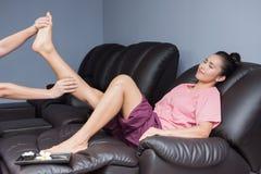 SPA και ταϊλανδικό μασάζ ποδιών Στοκ εικόνα με δικαίωμα ελεύθερης χρήσης