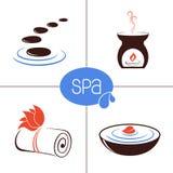 SPA και aromatherapy εικονίδια Στοκ Φωτογραφίες