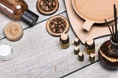 SPA και aromatherapy καλλυντικά και εξαρτήματα Στοκ Φωτογραφία