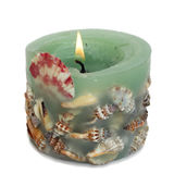 SPA κοχυλιών κεριών στοκ φωτογραφίες