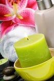 SPA που θέτει με το κερί στοκ εικόνα