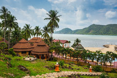 &Spa курорта рая Chang Koh романтичные, мирные sanctuar Стоковое Изображение