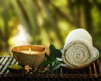 Spa. Beautiful Spa setting outdoor.With copy space Stock Photography