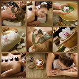 Spa. Beautiful Spa Collage.Dayspa Concept