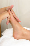 Spa. Foot massage at the spa Stock Photo